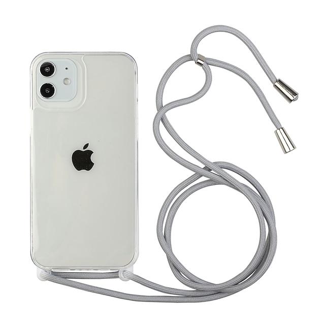 telefono Custodia Per Apple Antiurto Fascia da braccio iPhone 12 Pro Max 11 SE 2020 X XR XS Max 8 7 6 Resistente agli urti Transparente Mattonella TPU