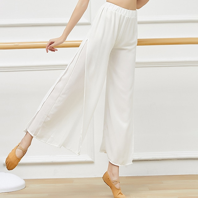 Activewear Pants Split Ruching Gore Women's Training Performance High Polyester