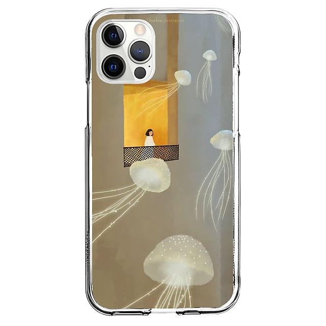 Kreatywne Malarstwo Walizka Dla Jabłko iPhone 12 iPhone 11 iPhone 12 Pro Max Unikalny design Ochronny pokrowiec Wzór Osłona tylna TPU