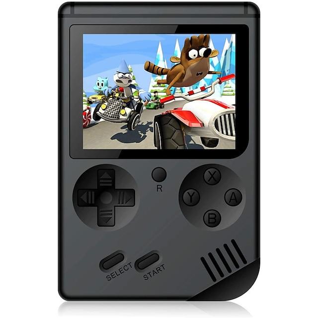 500 Games in 1 Jucător portabil Consolă de jocuri Reîncărcabil Mini portabil de buzunar portabil Suportă ieșirea TV 2 jucători Jocuri video retro cu 3 inch Ecran Pentru copii Adulți Băieți Fete 1 pcs