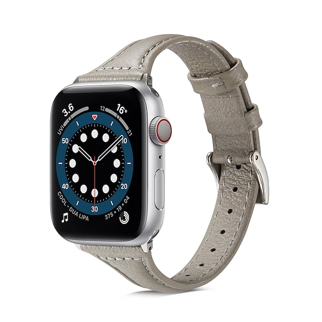 Watch Band for  Apple Watch Series 6 / SE / 5/4 / 3/2/1 44mm 40mm  42mm 38mm Apple Business Band Genuine Leather Wrist Strap