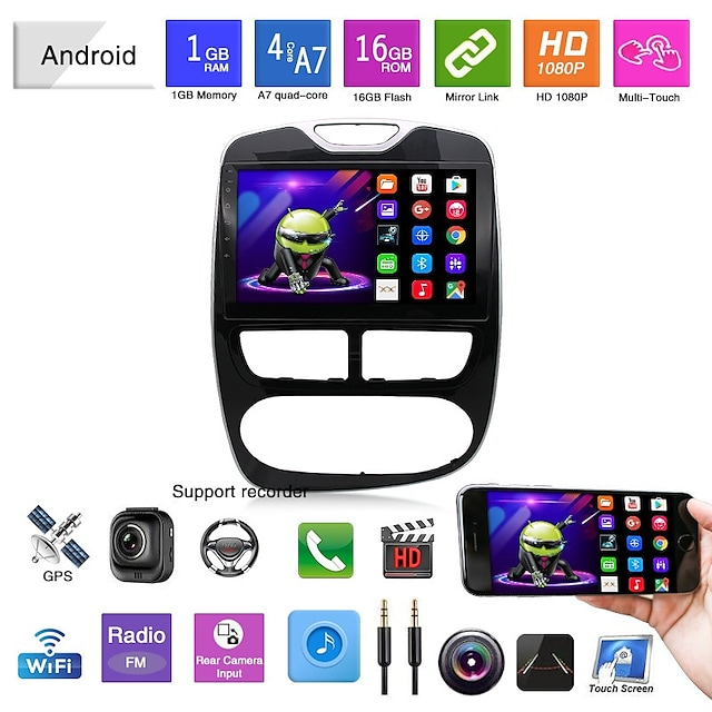Car DVD 12-15 Renault Clico Automatic Manual Android Navigation Mp5 Player GPS Integrated Machine