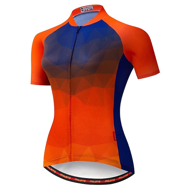 21Grams Women's Short Sleeve Cycling Jersey Summer Spandex Polyester Red Bike Jersey Top Mountain Bike MTB Road Bike Cycling Quick Dry Moisture Wicking Breathable Sports Clothing Apparel / Stretchy