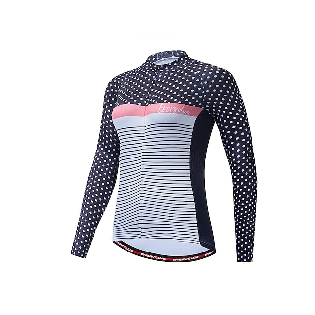 여성용 긴 소매 싸이클 져지 레드  / 화이트 레드 / 옐로우 블루 + 옐로우 자전거 져지 빠른 드라이 백 포켓 스포츠 의류 / 약간의 신축성 / 애슬레저