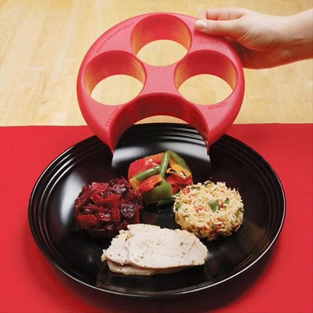 outil de mesure de repas sain pour une portion parfaite de contrôle du poids de la plaque régime minceur naturaliser gérer