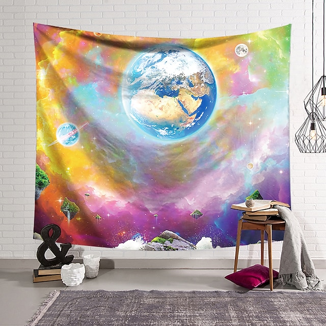 Wall Tapestry Art Decor Blanket Curtain Hanging Home Bedroom Living Room Polyester  Multi Color Earth