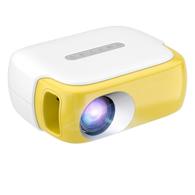Mini Projector RD860 Portable LED Full Color Video Projector for Cartoon, TV Movie Kids Gift Party Game Movie Projector for Home Theater with HDMI USB TV AV Interfaces and Remote Control