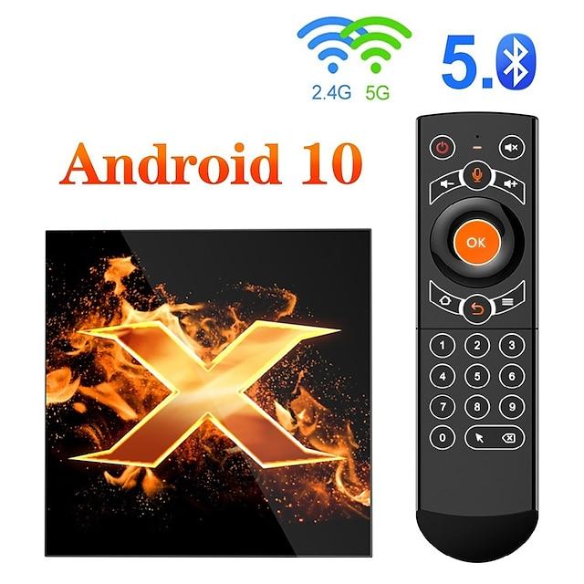 Android 10.0 TV Box Factory OEM X1 4K Touchpad Support H.265 Allwinner H616 2GB 4GB 64GB 32GB 16GB