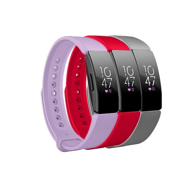 スマートウォッチバンド のために Fitbit 3枚 スポーツバンド シリコーン 置換 リストストラップ のために フィットビットエース2 Fitbit Inspire HR Fitbitインスパイア