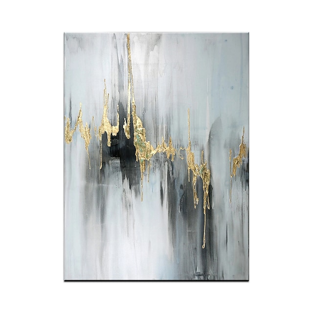Oil Painting Hand Painted Vertical Abstract Modern Rolled Canvas (No Frame)