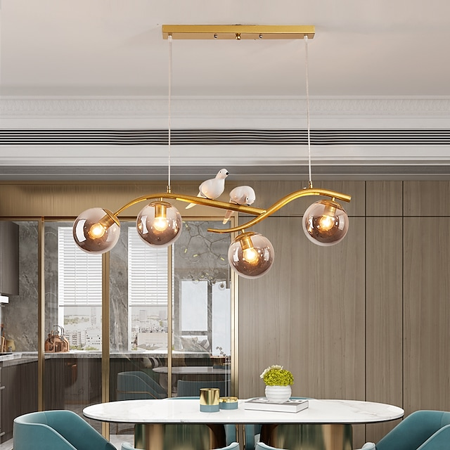 83 cm LED Pendant light Animal Element Geometric Shapes Single Design Pendant Light Metal Artistic Style Modern Style Sputnik Painted Finishes Modern Nordic Style 110-240 V