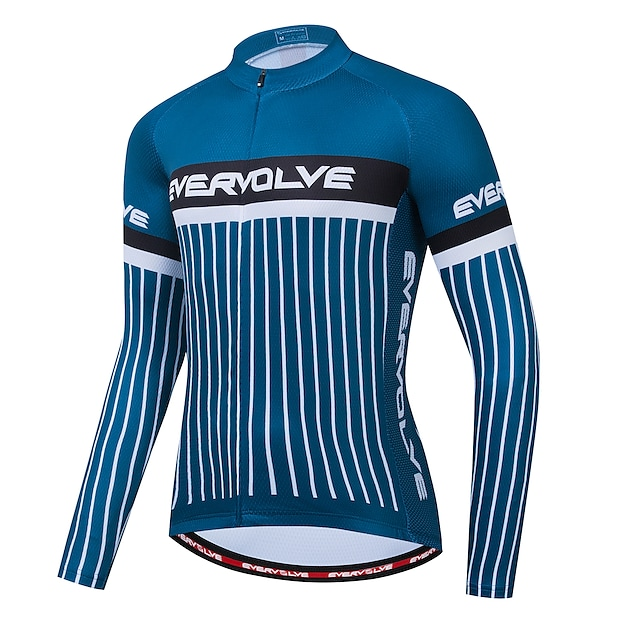 Herren Langarm Fahrradtrikot Dunkelblau Fahhrad Trikot / Radtrikot Tasche auf der Rückseite Sport Bekleidung / Mikro-elastisch / Athlässigkeit