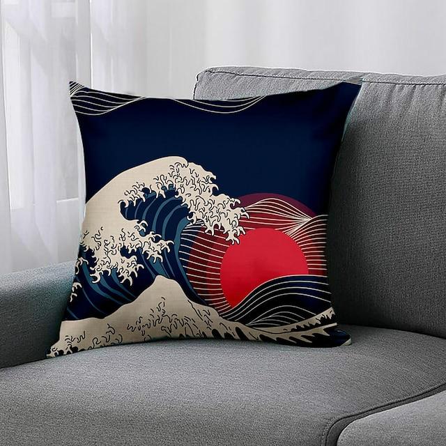 dwustronnie 1 szt. Geometryczna poszewka na poduszkę 45x45cm sztuczna pościel do sypialni na kanapie sofa