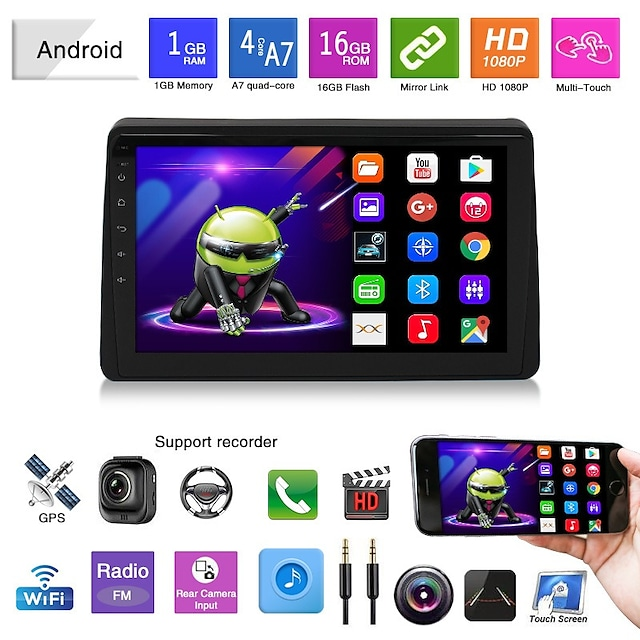 Car DVD 19 Renault Duster Android Navigation Mp5 Player GPS Reversing Video All-in-one Machine Renault