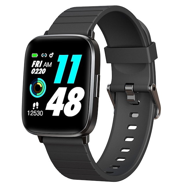 Y89 Smartwatch Fitness Running Watch Bluetooth 1.3 inch Screen IP68 Waterproof Touch Screen Heart Rate Monitor Stopwatch Pedometer Call Reminder for Android iOS Samsung Xiaomi Apple Men Women