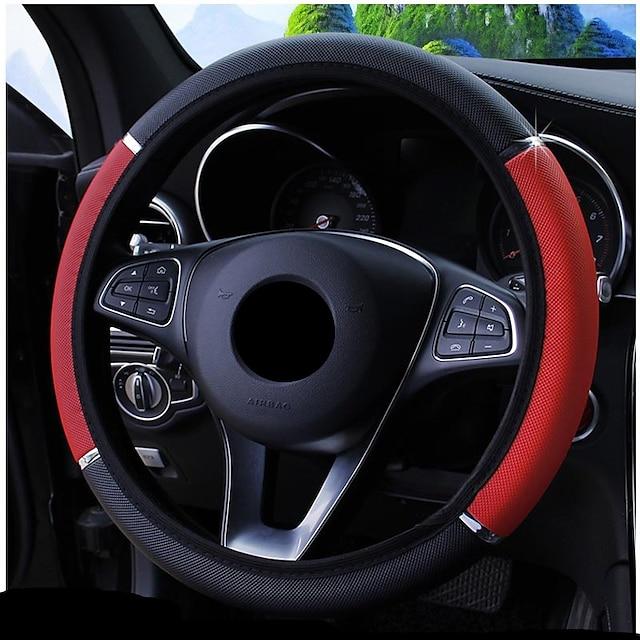 Steering Wheel Covers Carbon Fiber Black / Blue / Red For universal Avenger All years