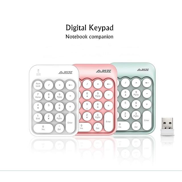 AJAZZ AK18 Wireless 2.4GHz Creative Keyboard Mini Size Novelty 18 pcs Keys