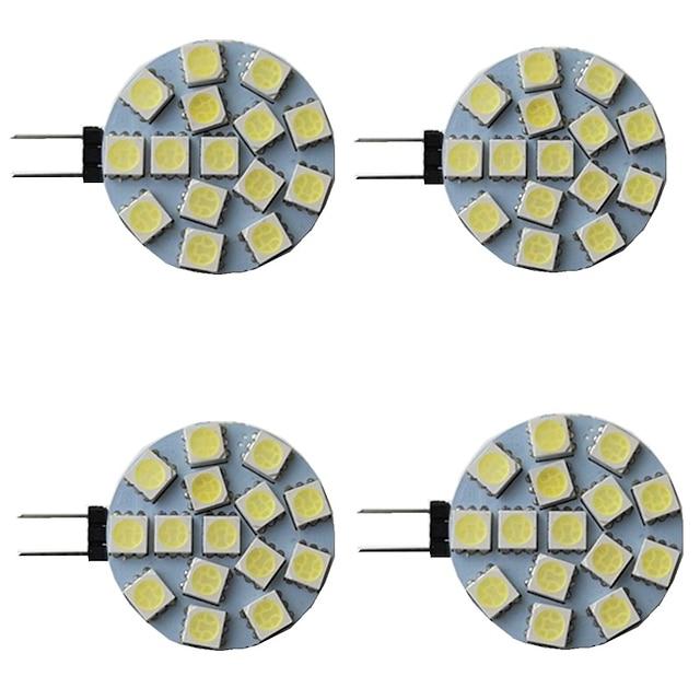 4 pezzi 3 W Luci LED Bi-pin 300 lm G4 15 Perline LED SMD 5050 Bianco caldo Bianco Rosso 9-30 V