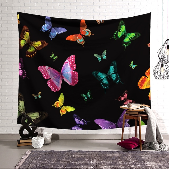 seinän kuvakudos taiteellinen sisustus huopa verho riippuva kodin makuuhuone olohuone sisustus polyesteri perhonen