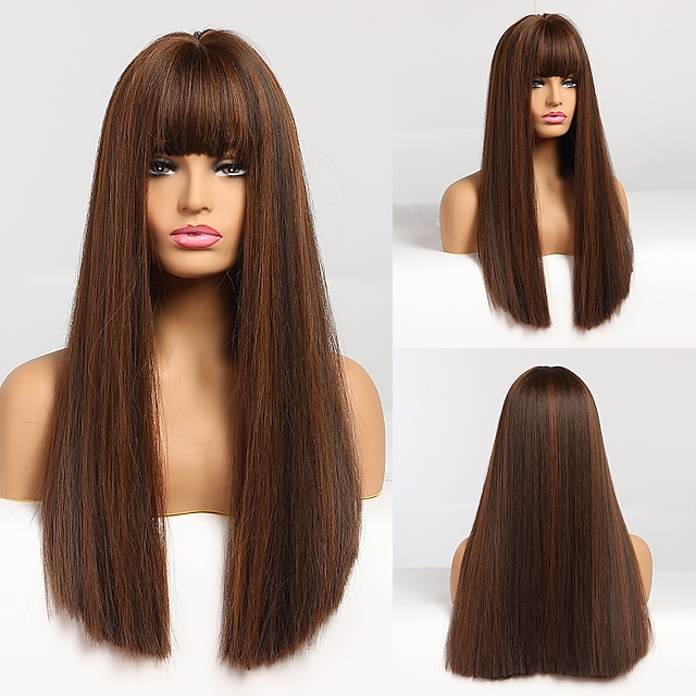 Synthetic Wigs Long Wavy Wigs for Women Heat Resistant Cosplay Wig Natural Hair