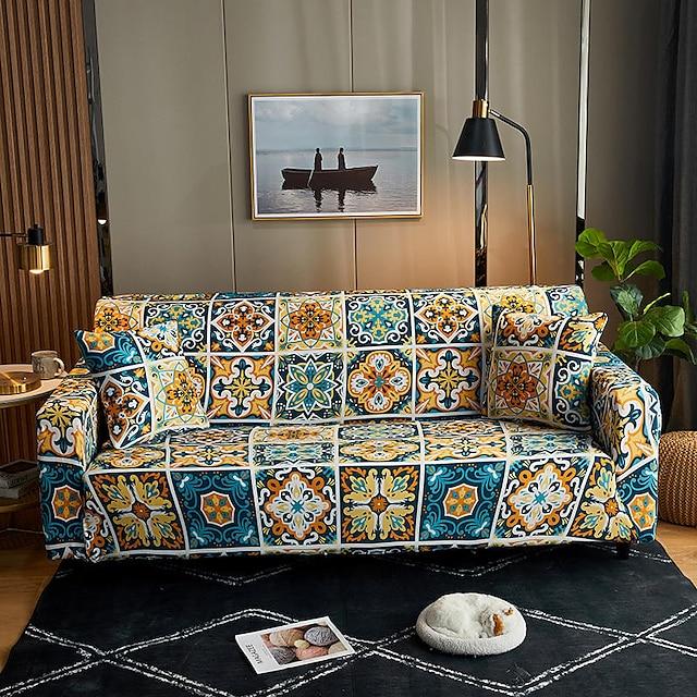 ispisujte rastezljive presvlake od prašine rastezljive navlake na sofi super mekane tkanine presvlake na kauču pogodne za kauč od 1 do 4 jastuka i kauč u obliku slova (besplatan poklon dobit ćete 1