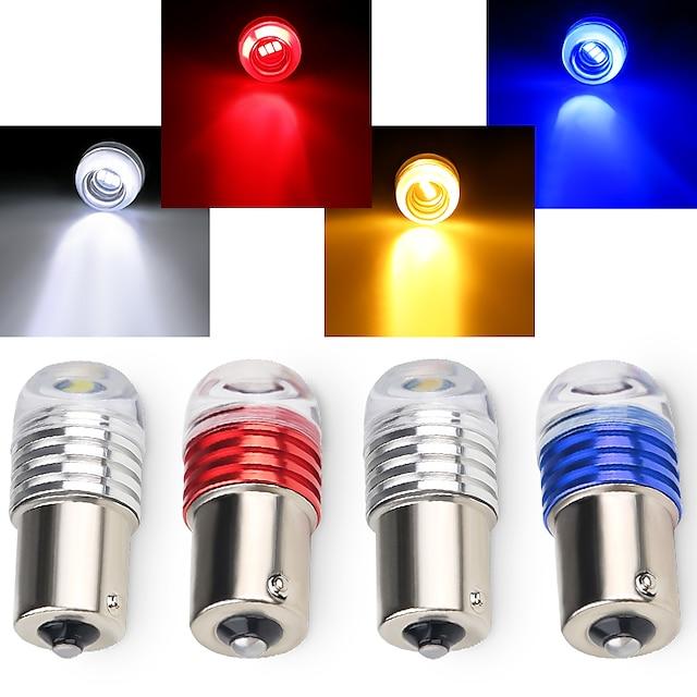 otolampara 3w dc12v 1156 1157 led indicatore di direzione per auto lampadina gialla colore di alta qualità luce stop freno colore rosso backup luce retromarcia colore bianco 1 pz