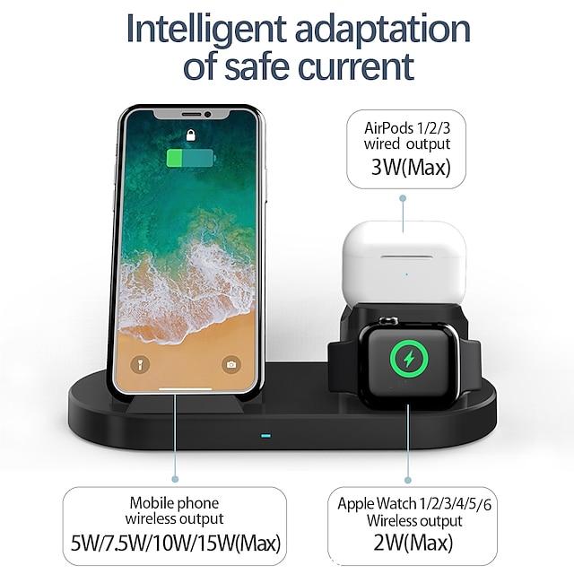 공장 아울렛 15 W 출력 전력 1 in 3 무선 충전기 무선 충전 스테이션 충천기 키트 RoHS 규제 CE FCC 제품 Apple iPhone 12 11 pro SE X XS XR 8 Samsung Glaxy S21 Ultra S20 Plus S10 Note20 10 iWatch SE / 6/5/4/3/2 Airpods 1/2 / Pro