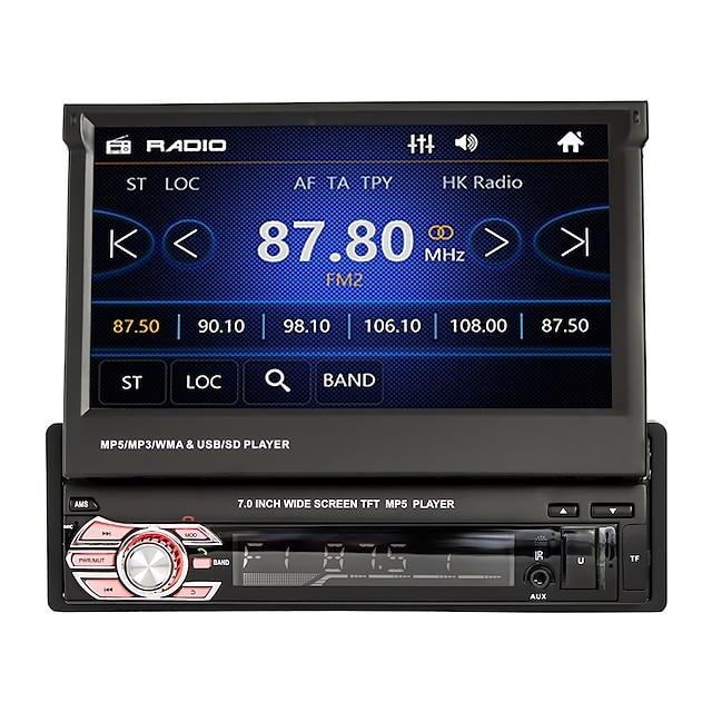 7 pulgada 1 Din Ventanas En tablero reproductor de DVD / Coche MP5 Player MP3 / RDS / Control remoto / RC para Universal Apoyo