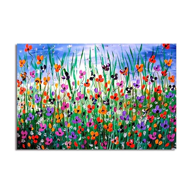 Hang-geschilderd olieverfschilderij Handgeschilderde Horizontaal Abstract Landschap Modern Zonder Inner Frame (Geen frame)