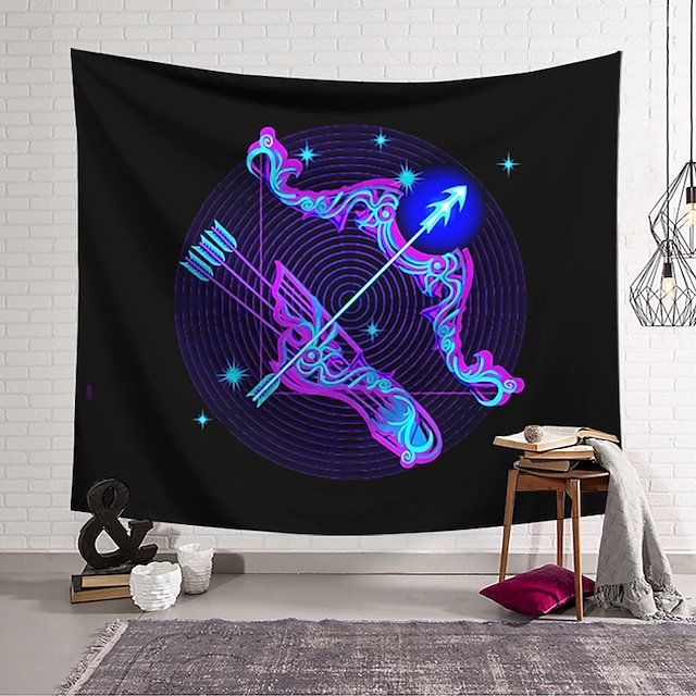 Wall Tapestry Art Decor Blanket Curtain Hanging Home Bedroom Living Room Decoration Polyester Bow and Arrow