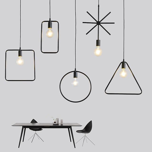 33 cm Design Globo Design del cerchio Design quadrato Luci Pendenti Metallo minimalista Finiture verniciate Artistico Moderno 220-240V
