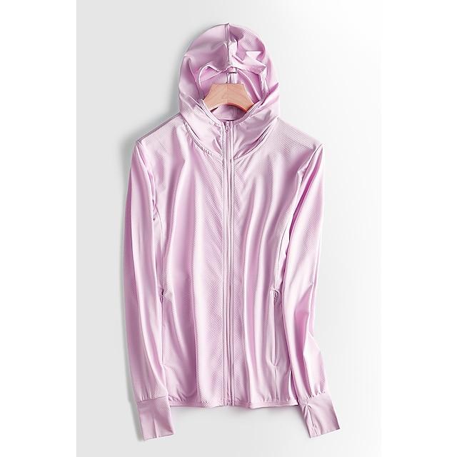ženska upf 50+ UV zaštitna lagana jakna s kapuljačom jakna s kapuljačom vjetrovka hlađenje sunčana košulja s džepovima brzo suhi kaputni kaput gornji planinarski ribolov performanse na otvorenom