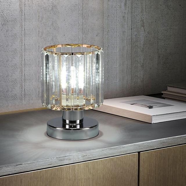 хрустальная настольная лампа современные лампы для спальни, кабинета, офиса, металла, 110-120 В 220-240 В