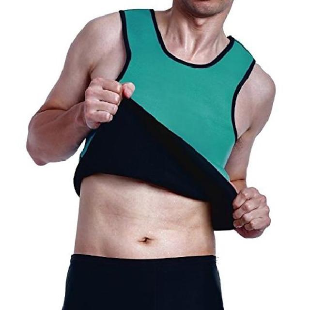 afslankende zweetvest voor heren, hot neopreen sauna-shirt, body shapers voor gewichtsverlies