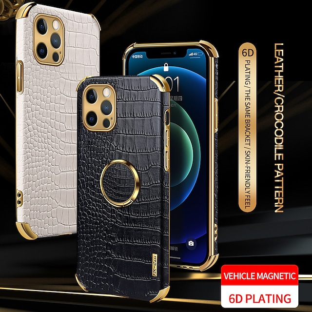 PU Leather Phone Case For Apple iPhone 12 11 SE2020 Shockproof Protective Case Ring Holder Cover for iPhone 12 Pro Max XR XS Max iPhone 8 7