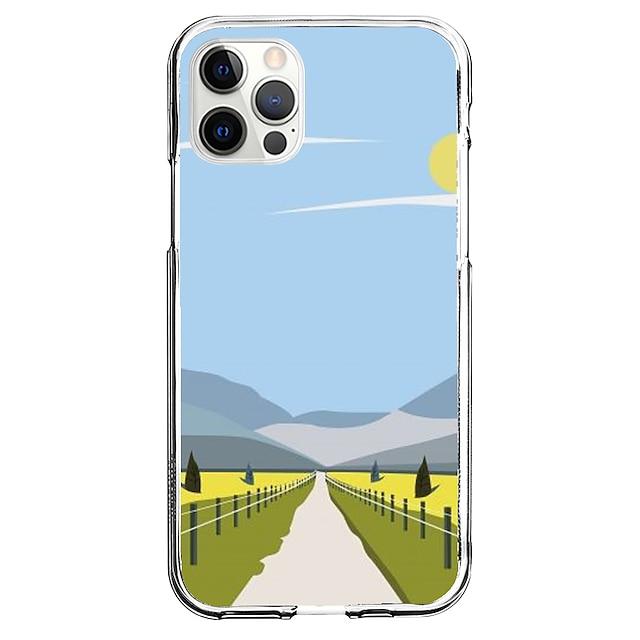 창의적 풍경 전화 케이스 에 대한 Apple 아이폰 12 아이폰 11 아이폰 12 프로 맥스 독특한 디자인 보호 케이스 패턴 뒷면 커버 TPU