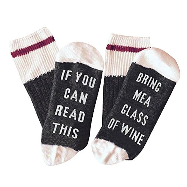 Funny Socks Size L With Saying