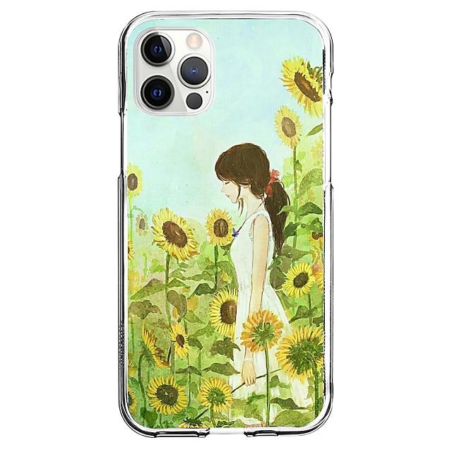 Creativo Caratteri telefono Astuccio Per Apple iPhone 12 iPhone 11 iPhone 12 Pro Max Design unico Custodia protettiva Fantasia / disegno Per retro TPU