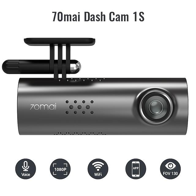70mai 1920 x 1080 Vision nocturne DVR de voiture 130 degrés Grand angle CMOS Aucun écran (sortie par APP) Dash Cam avec Wi-Fi / G-Sensor / Enregistrement du cycle en boucle Non Enregistreur de voiture