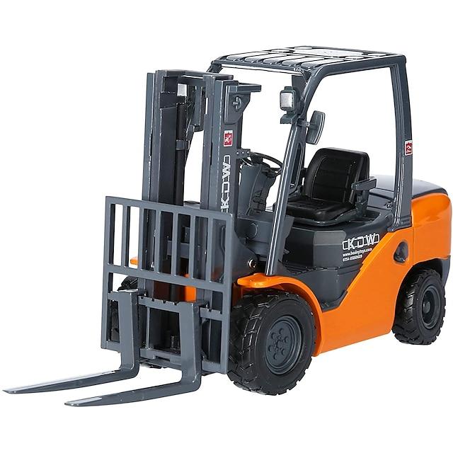 KDW 1:20 Alliage de métal Chariot Elévateur Véhicule de construction de camion jouet Petites Voiture Rétractable Simulation Machine Camion Garçon Enfant Adultes Jouets de voiture