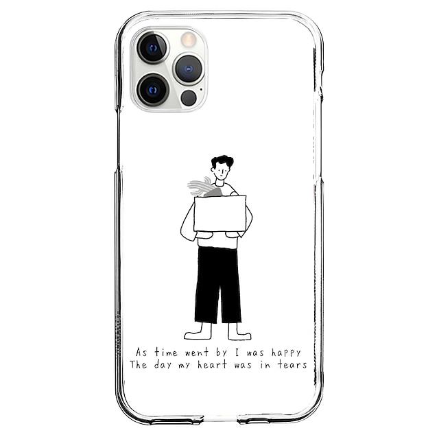 Criativo Personagens telefone Caso Para Apple iPhone 12 iPhone 11 iPhone 12 Pro Max Design Exclusivo Capa protetora Estampada Capa traseira TPU