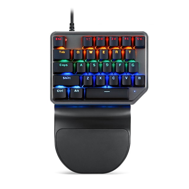 MOTOSPEED K27 USB Wired Mechanical Keyboard Gaming Keyboard Gaming Luminous Multicolor Backlit 27 pcs Keys