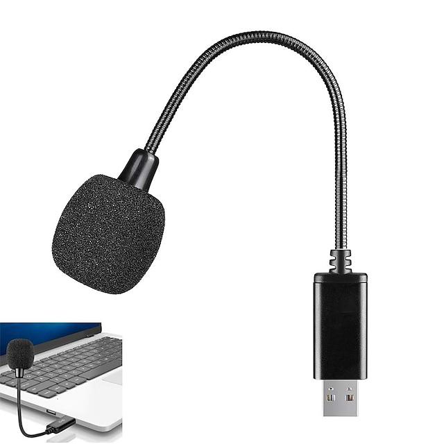mini usb mikrofon za prijenosno i stolno računalo, s guščjim vratom& univerzalna usb zvučna kartica, kompatibilna s računalom i macom, utikač& play, idealan kondenzatorski mikrofon za rad na