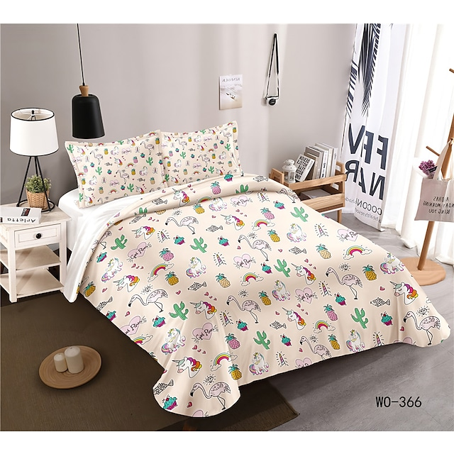 3-Piece Duvet Cover Set Hotel Bedding Sets Comforter Cover with Soft Lightweight Microfiber, Include 1 Duvet Cover, 2 shams for Double/Queen/King