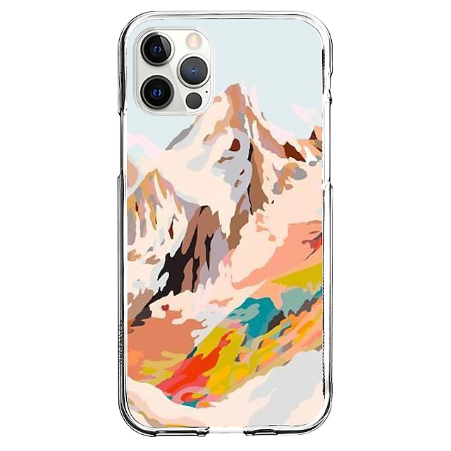 Creative Scenery Phone Case For Apple iPhone 12 iPhone 11 iPhone 12 Pro Max Unique Design Protective Case Pattern Back Cover TPU