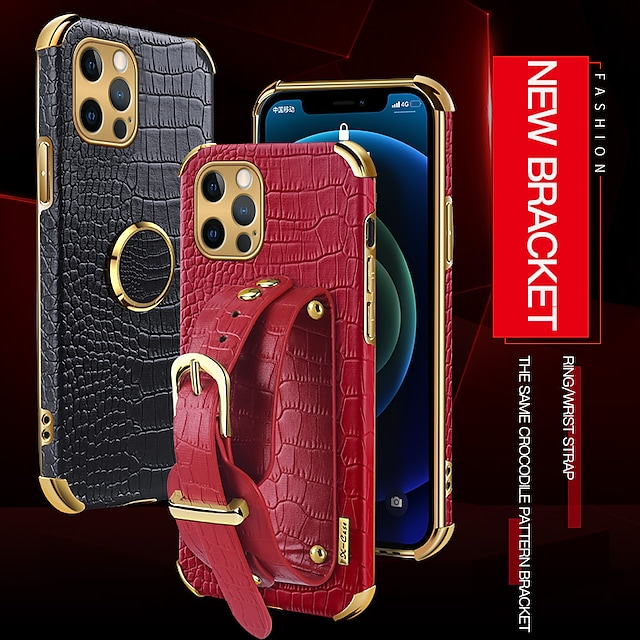 puhelin Etui Käyttötarkoitus Apple Takakuori Nahkalaukku iPhone 12 Pro Max 11 SE 2020 X XR XS Max 8 7 Iskunkestävä Pölynkestävä Yhtenäinen väri PU-nahka TPU