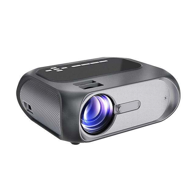 hd 1080p projektor native 1280x720p wi-fi mini-projektor 150 ansi lumen lysstyrke bærbar udendørs filmprojektor trådløs spejling med wifi / usb-kabel til android / laptops / windows