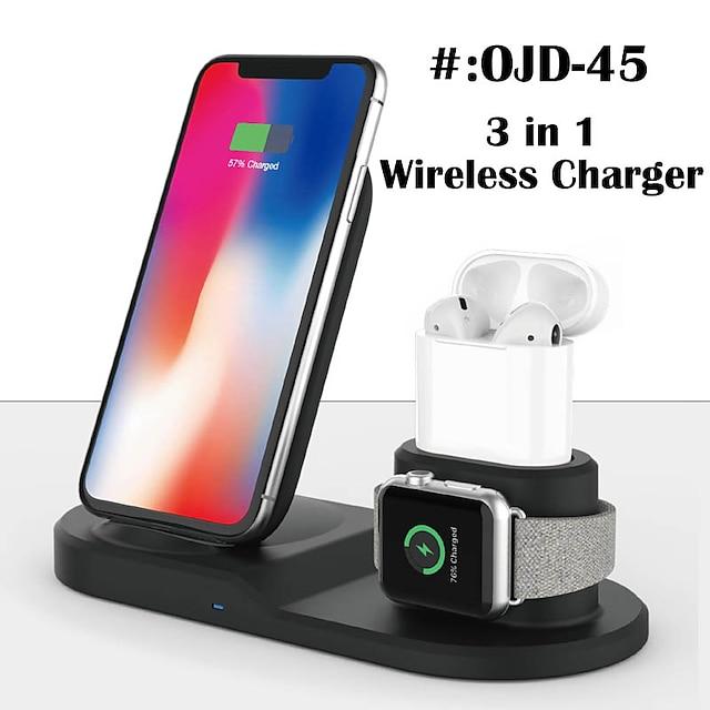 3 in 1 kabellose Ladegeräte Kabelloses Ladegerät Für Apple iPhone 12 11 pro SE X XS XR 8 Universal Kabelloses Ladegerät