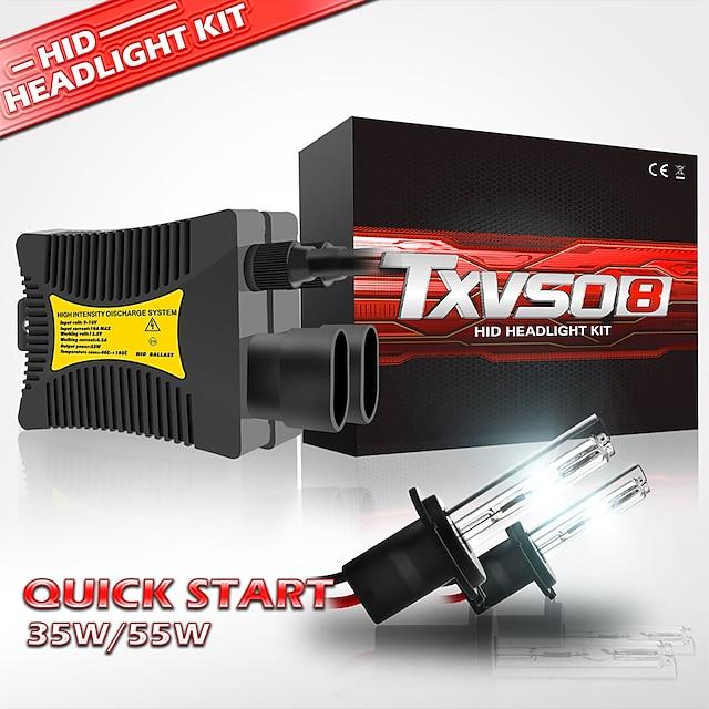 TXVSO8 Automatique Xénon HID Lampe Frontale H10 / H9 / H7 Ampoules électriques 5500 lm 55 W Pour Universel Tous les modèles Toutes les Années 2 pièces