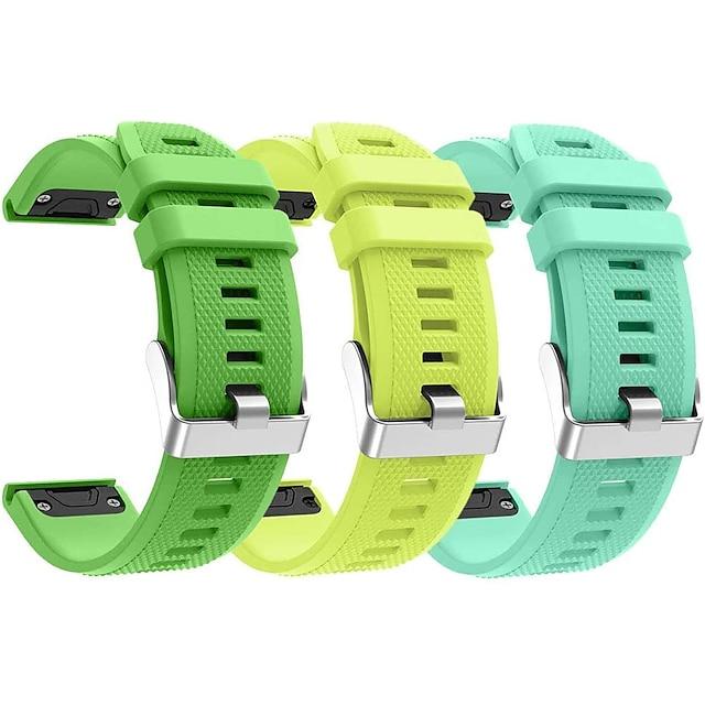 Reim til Smartklokke til Garmin 3 stk Sportsrem Silikon Erstatning Håndleddsrem til Tilnærming S60 Fenix 5 Fenix 5 Plus Garmin Quatix 5 Forløper 945 22mm